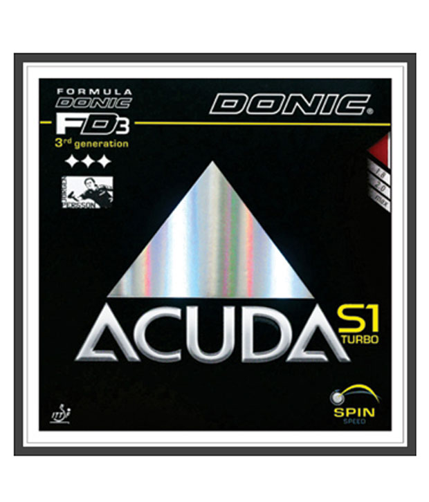 Donic Accuda S1 Turbo Table Tennis Rubber Black