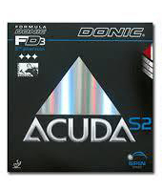 Donic Accuda S2 Table Tennis Rubber Black