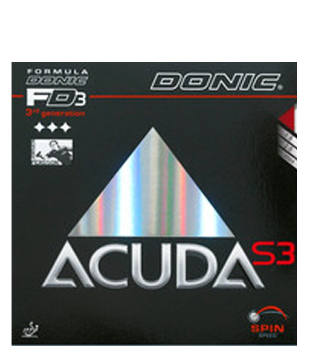 Donic Accuda S3 Table Tennis Rubber Black