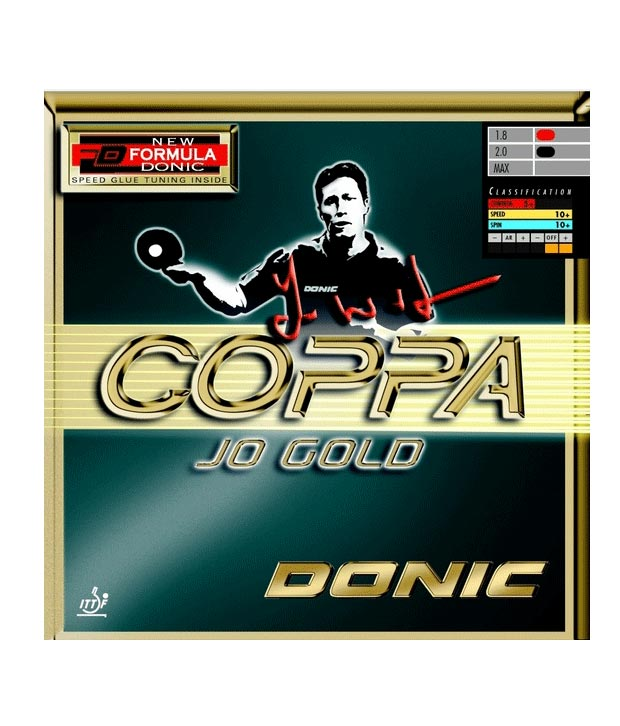 Donic Coppa Jo Gold Table Tennis Rubber Black