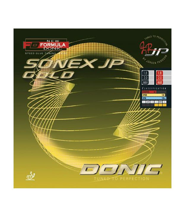 Donic Sonex JP Gold table tennis rubber Black