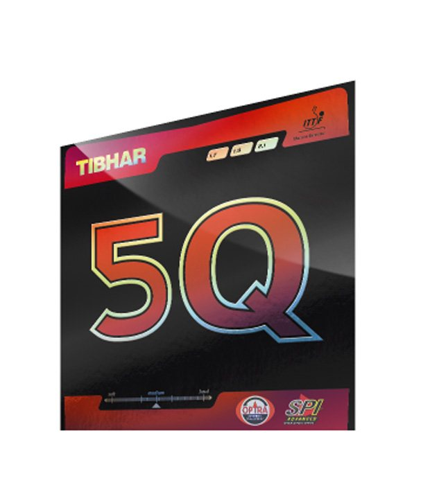 Tibhar 5-Q Table Tennis Rubber Red