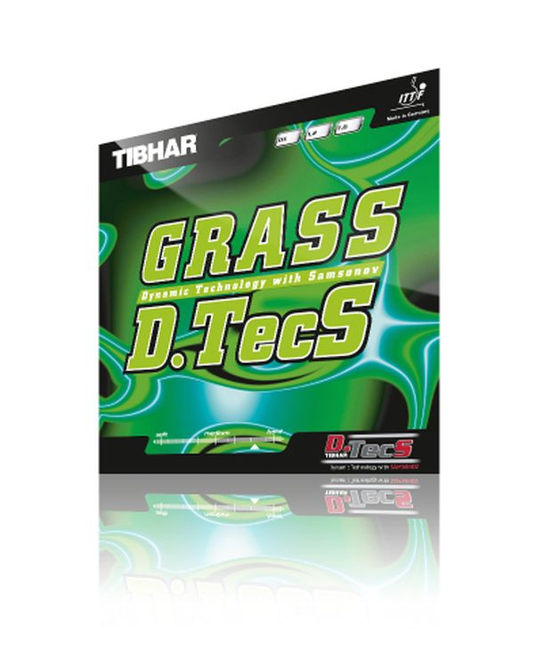 Tibhar Grass D. Tecs Table Tennis Rubber Red