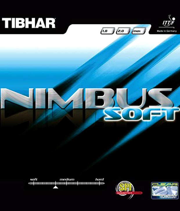 Tibhar Nimbus Soft Table Tennis Rubber Black