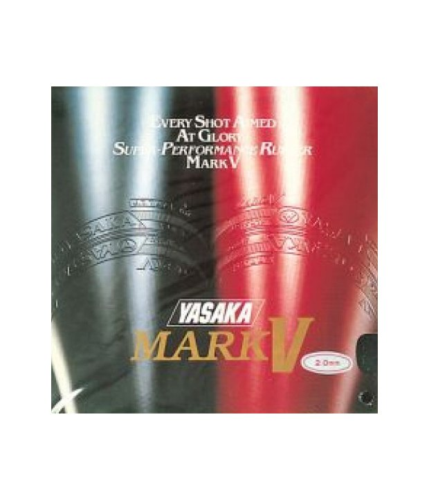 Yasaka Mark V Table Tennis Rubber Red